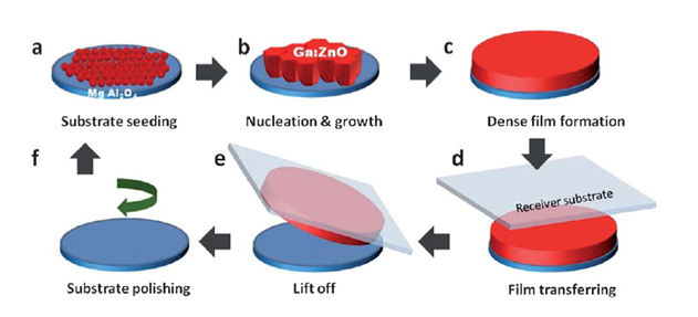 Transferability of solution processed epitaxial Ga:ZnO films; Tailored for gas sensor and transparent conducting oxide applications