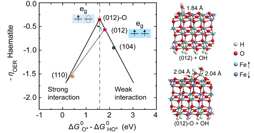 Identification of facet-governing-reactivity in haematite for oxygen evolution