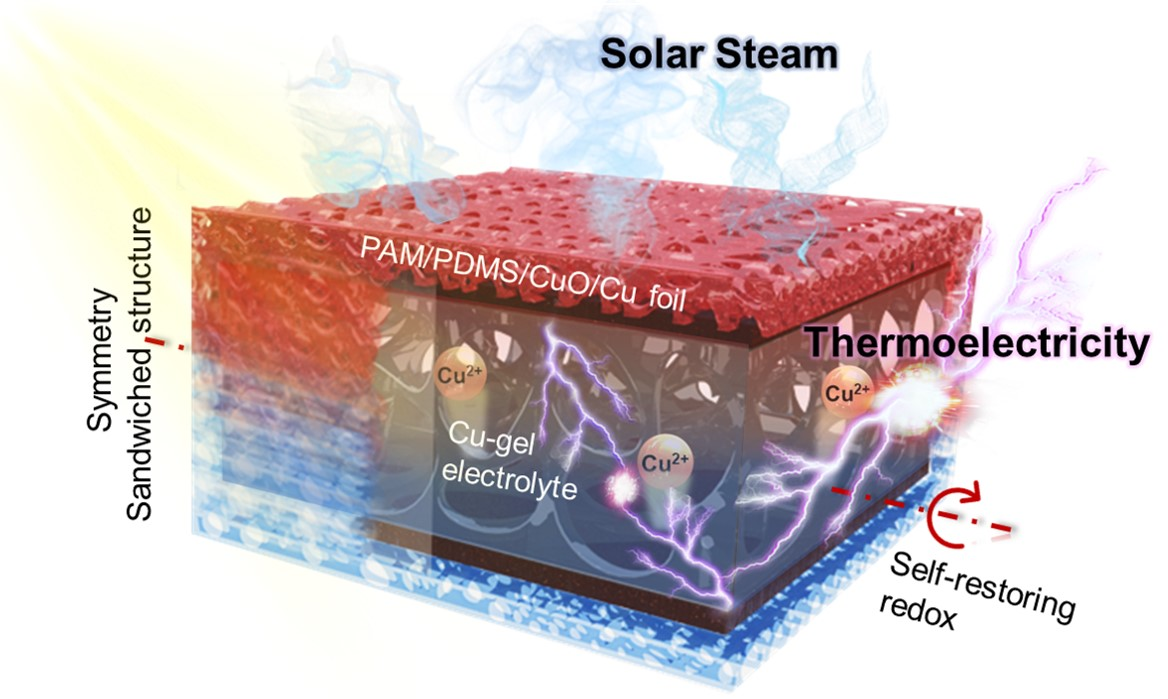 Modular and deformable steam electricity co-generation system with photothermal, water and electrochemical tunable multilayers